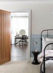 Cottage Oak veneer LH & RH Internal Fire Door  (H)1981mm (W)762mm (T)44mm