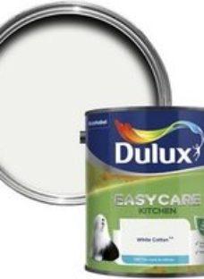 Dulux Easycare Kitchen White cotton Matt Emulsion paint 2.5L