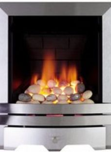 Focal Point Lulworth multi flue Brushed stainless steel effect Manual control Gas Fire FPFBQ035
