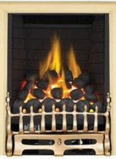 Focal Point Blenheim full depth Brass effect Manual control Gas Fire FPFBQ009
