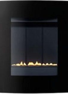 Focal Point Ebony Black glass frame Black Gas Fire