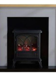 Focal Point Rockford Oak & grey Electric Fire suite