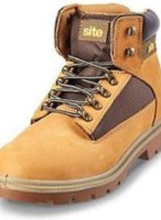 Site Quartz Men's Honey Safety boots  Size 10