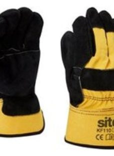 Site Cotton & leather Rigger Gloves  X Large