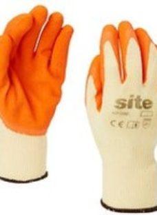 Site Latex & polycotton blend Gloves  Large