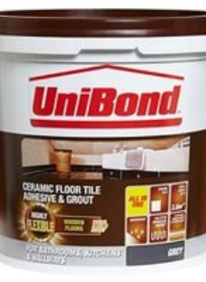 Unibond Ready mixed Grey Floor Tile Adhesive & grout  14.3kg