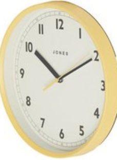 Jones Dime Contemporary Yellow Quartz Clock