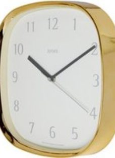 Jones Vogue Contemporary Brass effect Quartz Clock
