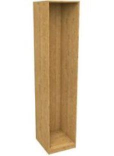 Form Darwin Modular Oak effect Tall Wardrobe cabinet (H)2356mm (W)500mm (D)566mm