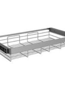 Darwin Aluminium & plastic Tilt & turn right Storage basket (H)147mm (W)700mm