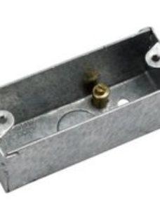 MK Steel 27mm Single Pattress box