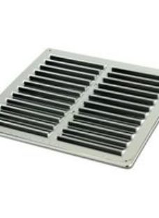 Manrose Chrome effect Square Gas appliances Fixed louvre vent  (H)229mm (W)229mm