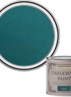 Rust-Oleum Chalkwash Peacock blue Flat matt Emulsion paint  125ml