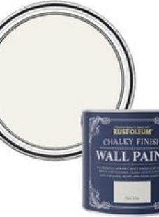 Rust-Oleum Chalky Finish Wall Chalk white Flat matt Emulsion paint  2.5L