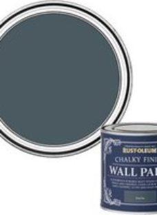 Rust-Oleum Chalky Finish Wall Deep sea Flat matt Emulsion paint  125ml