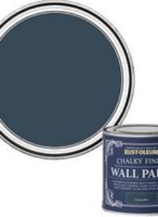 Rust-Oleum Chalky Finish Wall Evening blue Flat matt Emulsion paint  125ml
