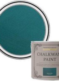Rust-Oleum Chalkwash Peacock blue Flat matt Emulsion paint  2.5L