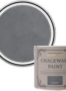 Rust-Oleum Chalkwash Dark concrete Flat matt Emulsion paint  2.5L