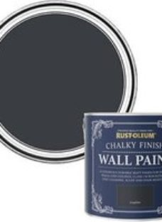 Rust-Oleum Chalky Finish Wall Graphite Flat matt Emulsion paint  2.5L