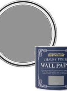 Rust-Oleum Chalky Finish Wall Pitch grey Flat matt Emulsion paint  2.5L