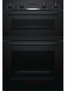 Bosch MBS533BB0B Black Built-in Electric Double oven