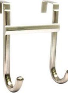 Chrome effect Double Over door hook (L)103mm