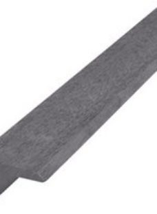 GoodHome Neva Solid Composite L-Shape Finishing profile Anthracite Grey (L)2200mm  Pack of 2