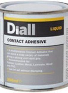 Diall Solvent-based Cream Liquid Contact adhesive  250ml