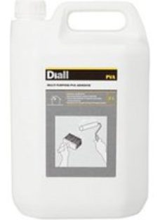 Diall White Multi-purpose PVA adhesive 5L