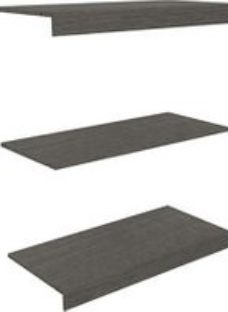 Perkin Grey oak effect Top  base & shelf kit (W)1000mm (D)478mm