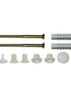 Fischer 12 piece Silver Toilet floor fixing kit  Pack of 1