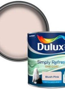 Dulux One coat Blush pink Matt Emulsion paint  2.5L