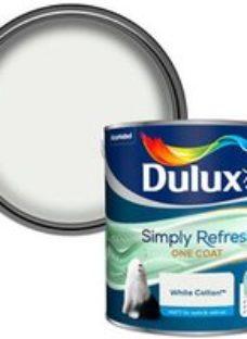 Dulux One coat White cotton Matt Emulsion paint  2.5L