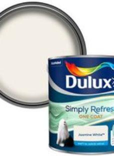 Dulux One coat Jasmine white Matt Emulsion paint  2.5L