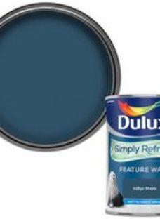 Dulux One coat Indigo shade Matt Emulsion paint  1.25L