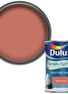 Dulux One coat Blood orange Matt Emulsion paint  1.25L