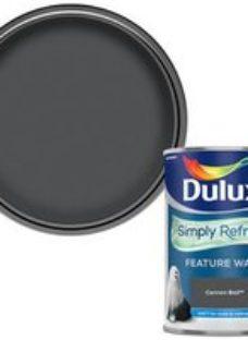 Dulux One coat Cannon ball Matt Emulsion paint  1.25L