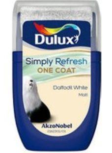Dulux One coat Daffodil white Matt Emulsion paint  30ml Tester pot