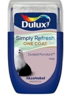 Dulux One coat Dusted fondant Matt Emulsion paint  30ml Tester pot