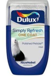 Dulux One coat Polished pebble Matt Emulsion paint  30ml Tester pot