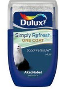 Dulux One coat Sapphire salute Matt Emulsion paint  30ml Tester pot