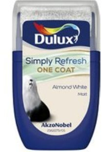 Dulux One coat Almond white Matt Emulsion paint  30ml Tester pot