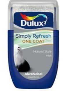 Dulux One coat Natural slate Matt Emulsion paint  30ml Tester pot