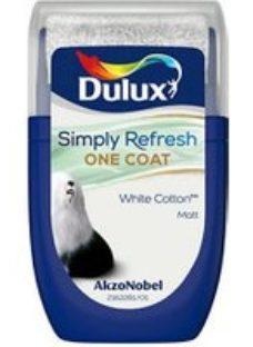 Dulux One coat White cotton Matt Emulsion paint  30ml Tester pot