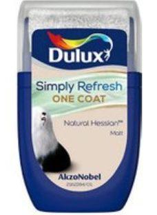 Dulux One coat Natural hessian Matt Emulsion paint  30ml Tester pot