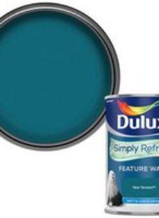 Dulux One coat Teal tension Matt Emulsion paint  1.25L