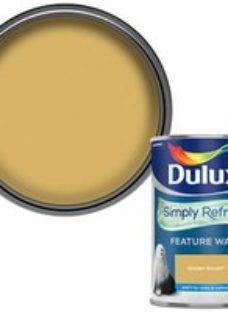 Dulux One coat Golden sands Matt Emulsion paint  1.25L
