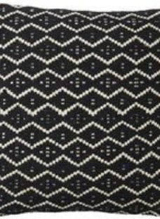 Denia Chevron Black & off white Cushion