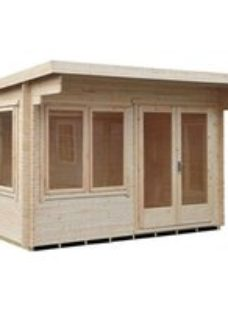 Shire Danbury 12x8 Pent Tongue & groove Wooden Cabin