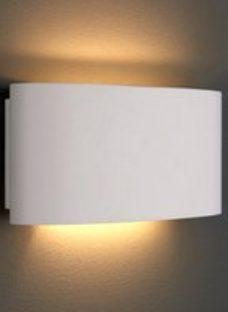 DUKE WHITE PLASTER LED WALL